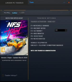 Need for Speed Heat Trainer for PC game version v2020.03.04