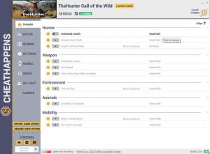 theHunter: Call of the Wild Trainer for PC game version  v1810243