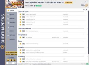 The Legend of Heroes: Trails of Cold Steel 3 Trainer for PC game version v1.05