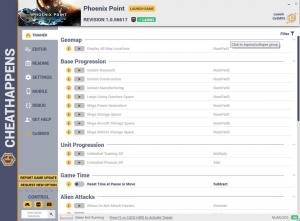 Phoenix Point Trainer for PC game version  Revision 1.0.56617