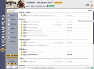 Total War: THREE KINGDOMS Trainer for PC game version v1.5.0 Build 13493.1921376