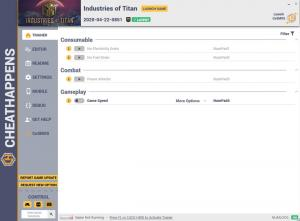 Industries of Titan Trainer for PC game version v2020-04-22-0851
