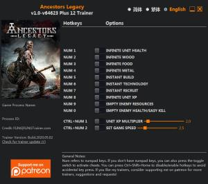 Ancestors Legacy Trainer for PC game version v64623