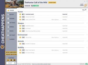 theHunter: Call of the Wild Trainer for PC game version v1834240