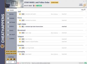 Star Wars Jedi: Fallen Order Trainer for PC game version v05.07.2020