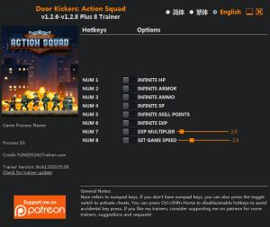 Door Kickers: Action Squad Trainer for PC game version v1.2.8