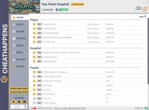 Two Point Hospital Trainer for PC game version v1.20.51521