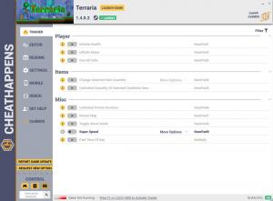 Terraria Trainer for PC game version v1.4.0.2