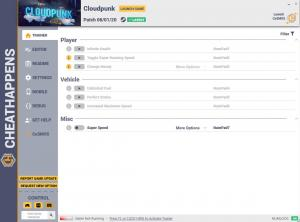 Cloudpunk Trainer for PC game version v06.01.2020