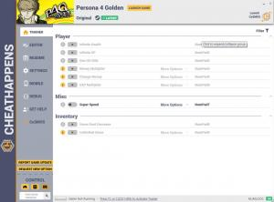 Persona 4 Golden Trainer for PC game version v1.0