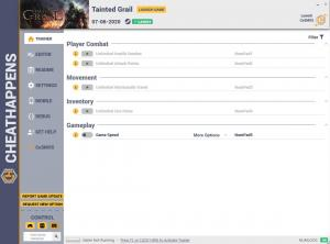 Tainted Grail Trainer for PC game version v1.0
