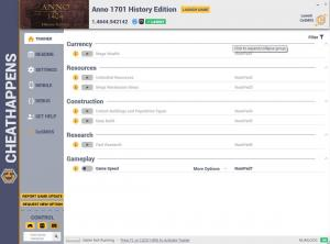 Anno 1701 History Edition Trainer for PC game version v1.4644.942142