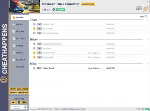 American Truck Simulator Trainer for PC game version v1.38.1.1 64bit