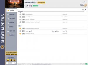 Desperados 3 Trainer for PC game version v1.2.4
