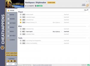 Hardspace: Shipbreaker Trainer for PC game version v0.1.4.142375