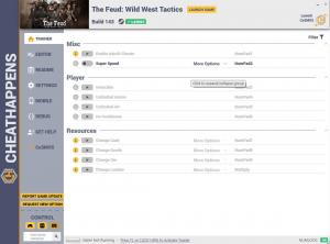 The Feud: Wild West Tactics Trainer for PC game version Build 143
