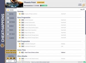 Phoenix Point Trainer for PC game version Necronomicon 1.7.0 EGS
