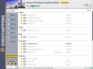 Horizon Zero Dawn: Complete Edition Trainer for PC game version v1.03
