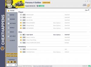 Persona 4 Golden Trainer for PC game version v09.03.2020