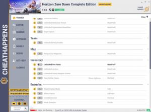Horizon Zero Dawn: Complete Edition Trainer for PC game version v1.04