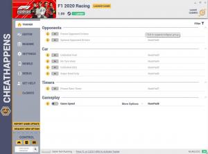 F1 2020 Trainer for PC game version v1.09