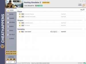 Hunting Simulator 2 Trainer for PC game version v1.0.0.182.64713