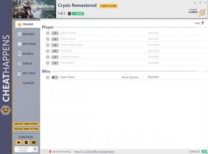 Crysis Remastered Trainer for PC game version v1.0.1