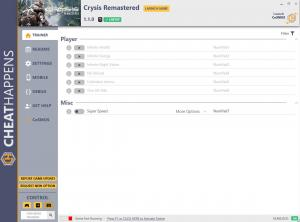 Crysis Remastered Trainer for PC game version v1.1.0
