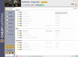 Pathfinder: Kingmaker Trainer for PC game version v2.1.4 Definitive edition