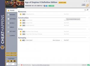 Age of Empires II: Definitive Edition Trainer for PC game version v101.101.40874.0