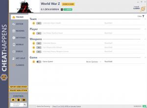 World War Z Trainer for PC game version v0.1.DEV.6180924