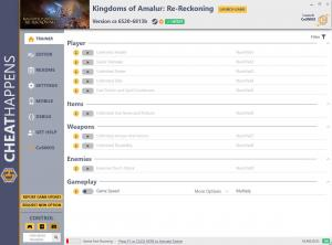 Kingdoms of Amalur: Re-Reckoning Trainer for PC game version cs 6520-6813b