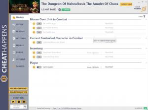 The Dungeon Of Naheulbeuk: The Amulet Of Chaos Trainer for PC game version v1.0 497 34673