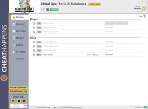 Metal Gear Solid 2: Substance Trainer for PC game version v1.0