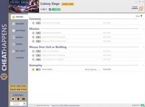 Colony Siege Trainer for PC game version v1.20.1
