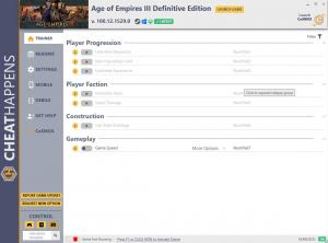 Age of Empires III: Definitive Edition Trainer for PC game version v100.12.1529.0