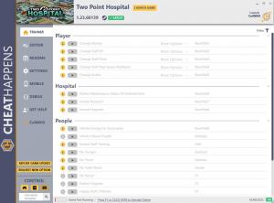 Two Point Hospital Trainer for PC game version v1.23.60139