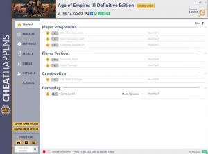 Age of Empires III: Definitive Edition Trainer for PC game version v100.12.3552.0