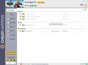 Torchlight 3 Trainer for PC game version v99728