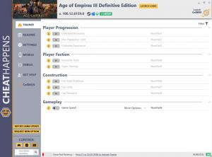 Age of Empires III: Definitive Edition Trainer for PC game version v100.12.6159.0