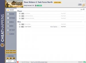 Door Kickers 2: Task Force North Trainer for PC game version EA 1.0