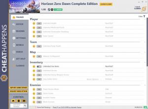 Horizon Zero Dawn: Complete Edition Trainer for PC game version v1.08