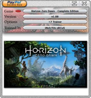 Horizon Zero Dawn: Complete Edition Trainer for PC game version v1.09