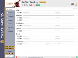 Star Wars: Squadrons Trainer for PC game version v12.12.2020