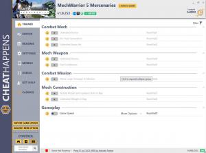 MechWarrior 5: Mercenaries Trainer for PC game version v1.0.253