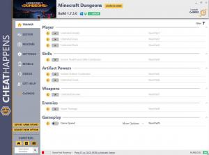 Minecraft Dungeons Trainer for PC game version Build 1.7.3.0