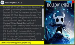 Hollow Knight Trainer for PC game version v1.4.3.2