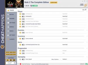 Nioh 2 - The Complete Edition Trainer for PC game version v1.25.01