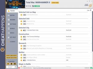 Total War: Warhammer 2 Trainer for PC game version v1.11.0