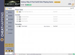 Colony Ship: A Post-Earth Role Playing Game Trainer for PC game version v0.8.52